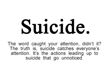is suicide and act of selfishness We all cry when someone commits suicide this is what they want us to do no  one understands why people do this thing life is supposed to.